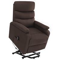 vidaXL Sta-op-massagestoel verstelbaar stof bruin