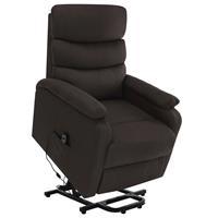vidaXL Sta-op-massagestoel verstelbaar stof donkerbruin