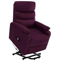 vidaXL Sta-op-massagestoel verstelbaar stof paars