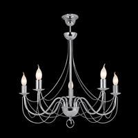 Lis Poland Kroonluchter Retro, 5-lamps 75cm, chroom