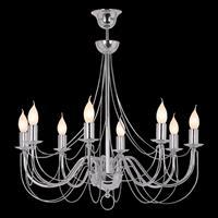 Lis Poland Kroonluchter Retro, 8-lamps 75cm, chroom