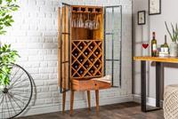 Wijnrek Bordeaux 145cm Acacia-hout