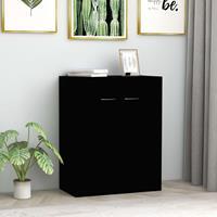 vidaXL Dressoir 60x30x75 cm spaanplaat zwart