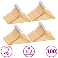 vidaXL 100-delige Kledinghangerset anti-slip hardhout