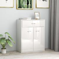 vidaXL Dressoir 60x30x75 cm spaanplaat hoogglans wit
