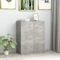 VidaXL Dressoir 60x30x75 cm spaanplaat betongrijs