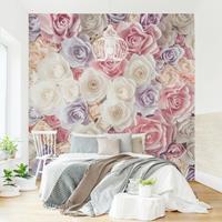 Home24 Vliesbehang Pastel Paper Art Roses, Bilderwelten