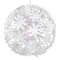 Globo Stella Pendant Lamp Energy Efficiency: A++ to E 60 Watt E27 Plastic White 15024