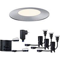 Paulmann 93697 Verlichtingssysteem Plug&Shine LED-buiteninbouwlampen (basisset) Set van 3 stuks LED 7.5 W Zilver