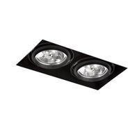Led Spot zwart verstelbaar IP23 360x210x104mm GINGKO QR III Trimless Faro