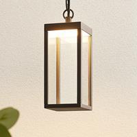 Lucande LED buitenwandlamp Cube met glazen kap, 26 cm