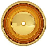 vidaXL Wastafel 40x15 cm keramiek goudkleurig