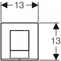 Geberit Bedieningspaneeldekking Toilet Bolero met pneumatische bediening Wit alpin (241912)