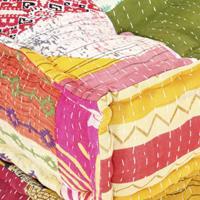 vidaXL Poef modulair stof patchwork