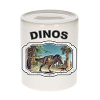 Bellatio Decorations Dieren liefhebber dinosaurus t-rex spaarpot 9 cm jongens en meisjes - keramiek - Cadeau spaarpotten dinosaurussen liefhebber