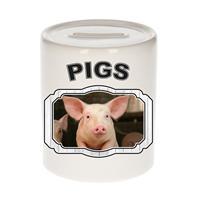 Bellatio Decorations Dieren liefhebber varken spaarpot 9 cm jongens en meisjes - keramiek - Cadeau spaarpotten varkens liefhebber