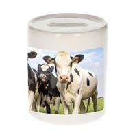 Bellatio Decorations Dieren koe foto spaarpot 9 cm jongens en meisjes - Cadeau spaarpotten Nederlandse koeien liefhebber