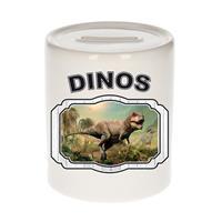 Bellatio Decorations Dieren liefhebber t-rex dinosaurus spaarpot 9 cm jongens en meisjes - keramiek - Cadeau spaarpotten dinosaurussen liefhebber