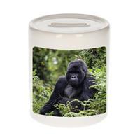 Bellatio Decorations Dieren gorilla foto spaarpot 9 cm jongens en meisjes - Cadeau spaarpotten gorilla apen liefhebber