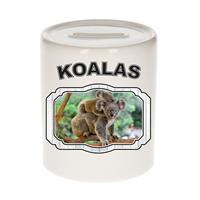 Bellatio Decorations Dieren liefhebber koala spaarpot 9 cm jongens en meisjes - keramiek - Cadeau spaarpotten koalaberen liefhebber