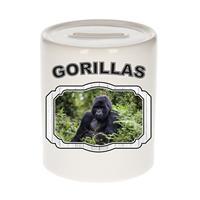 Bellatio Decorations Dieren liefhebber gorilla spaarpot 9 cm jongens en meisjes - keramiek - Cadeau spaarpotten gorilla apen liefhebber