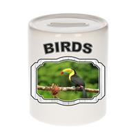 Bellatio Decorations Dieren liefhebber toekan spaarpot 9 cm jongens en meisjes - keramiek - Cadeau spaarpotten toekans / vogel liefhebber