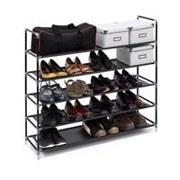 relaxdays Schoenenrek 20 paar schoenen - Zwart