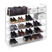 relaxdays Schoenenrek 20 paar schoenen - Wit