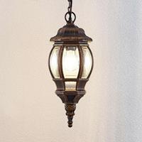 Lindby Buiten hanglamp Nadesha, geborsteld goud