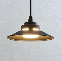 Lindby LED buiten hanglamp Cassia, donkergrijs