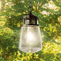 KICHLER Buitenhanglamp Lyndon met glazen lampenkap