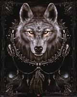 Pyramid Spiral Wolf Dreams Poster 40x50cm