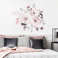 2 STKS Aquarel Bloem Groep Home Achtergrond Decoratie Verwijderbare Muursticker