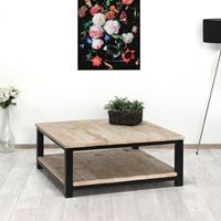 steigerhouttrend Steigerhouten salontafel Buna met industrieel frame en onderblad