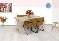 steigerhouttrend Steigerhouten tafel Kinsey met robuuste X-poten