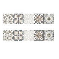 2 STUKS Retro Tegelstickers Keuken Badkamer PVC Zelfklevende Muurstickers Woonkamer DIY Decor Behang Waterdicht Decoratie, Stijl: Lamineren (MZ039 A)