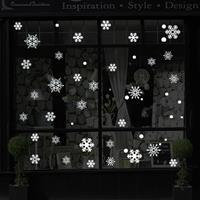 Creative Window Glass Door Removable Christmas Festival Wall Sticker Decoration (Snowflake)
