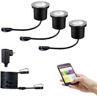 Paulmann P+S Boden Einbauleuchten Starterset RGBW 94275 Verlichtingssysteem Plug&Shine LED 3.6 W Zilver