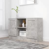 vidaXL Dressoir 120x30,5x70 cm spaanplaat betongrijs