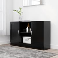 vidaXL Dressoir 120x30,5x70 cm spaanplaat zwart