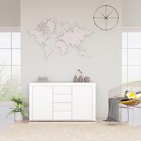 vidaXL Dressoir 120x36x69 cm spaanplaat hoogglans wit