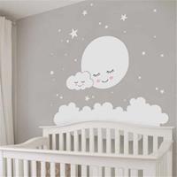 Cloud Star Moon kinderkamer decoratie muursticker, afmeting: 157cm x 157cm