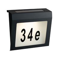 Solar Huisnummer Axel zwart op zonne energie inclusief nummers
