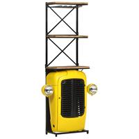 vidaXL Wijnkast tractor 49x31x170 cm massief mangohout geel