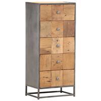 vidaXL Ladekast 45x30x100 cm massief gerecycled hout