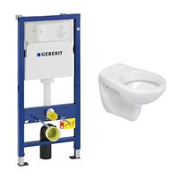 geberit UP100 toiletset met Mueller Saturnus toilet en zitting