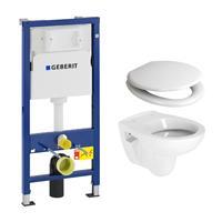 geberit UP100 toiletset met Plieger Compact toilet en softclose zitting