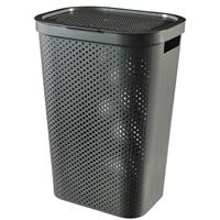 Curver wasmand Infinity dots antraciet 60L - 100% recycled