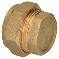 Sanivesk knelfitting eindkap 22 mm V