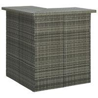vidaXL Hoekbartafel 100x50x105 cm poly rattan grijs
